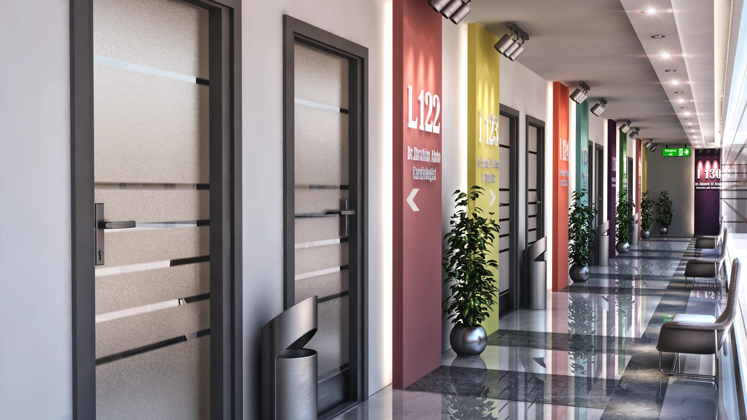 medical clinic corridor